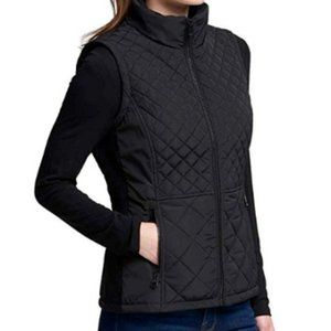 Andrew Marc Women's Quilted Insulated Vest-BLACK